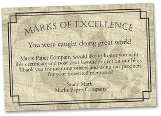 Marks of excellence cc