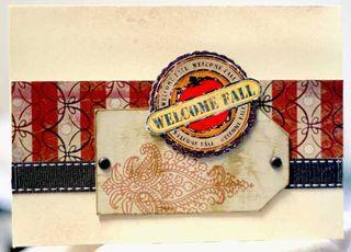 De Welcome Fall card