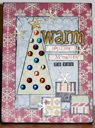 Warm Holiday Memories Frame